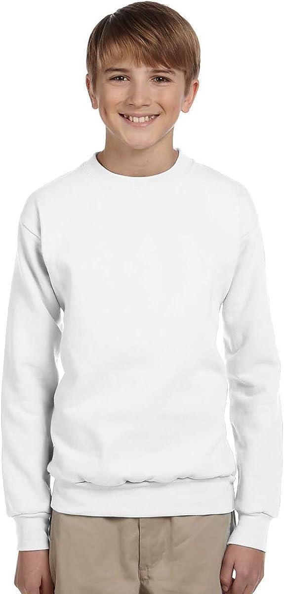 Hanes Youth ComfortBlend EcoSmart Crewneck Sweatshirt: Clothing