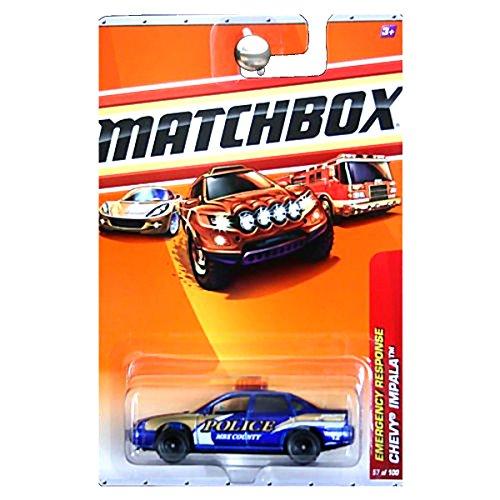 Matchbox 2010 Emergency Response Chevrolet Chevy Impala Police Car Blue