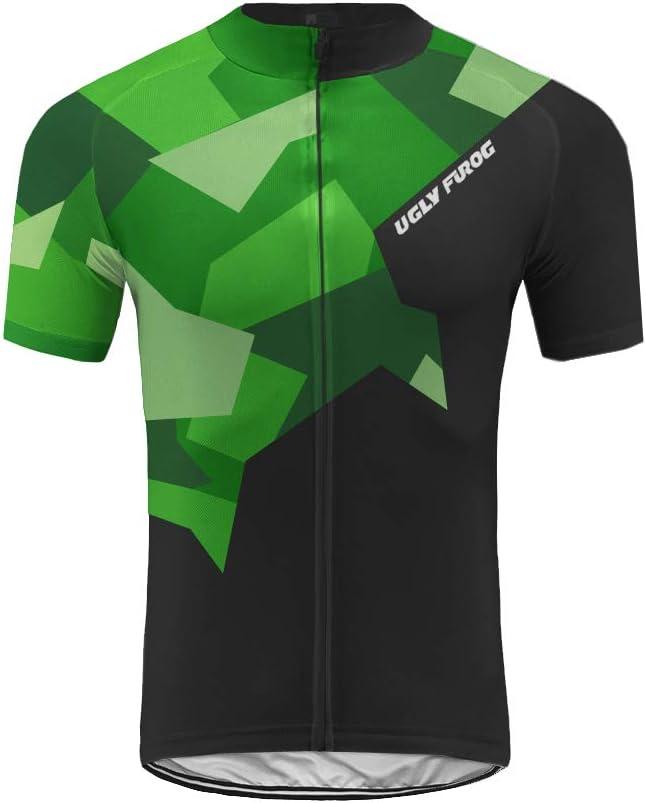 Uglyfrog Fr/ühling//Sommer M/änner Radfahren Kleidung Set Fahrrad Anzug Outdoor kurzarmtrikot Tr/ägerhose Eingestellt Atmungsaktiv Schnell Trocken HDE2019DJT08