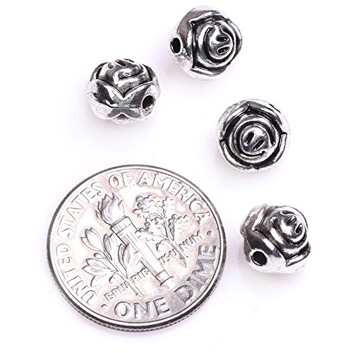 GEM-inside Ball Flower Bali Style Metal Antique Tibetan Silver Findings Jewelry Making Spacer BeadsCharms Jewelry Findings Jewelry Making DIY Connectors FGP0471