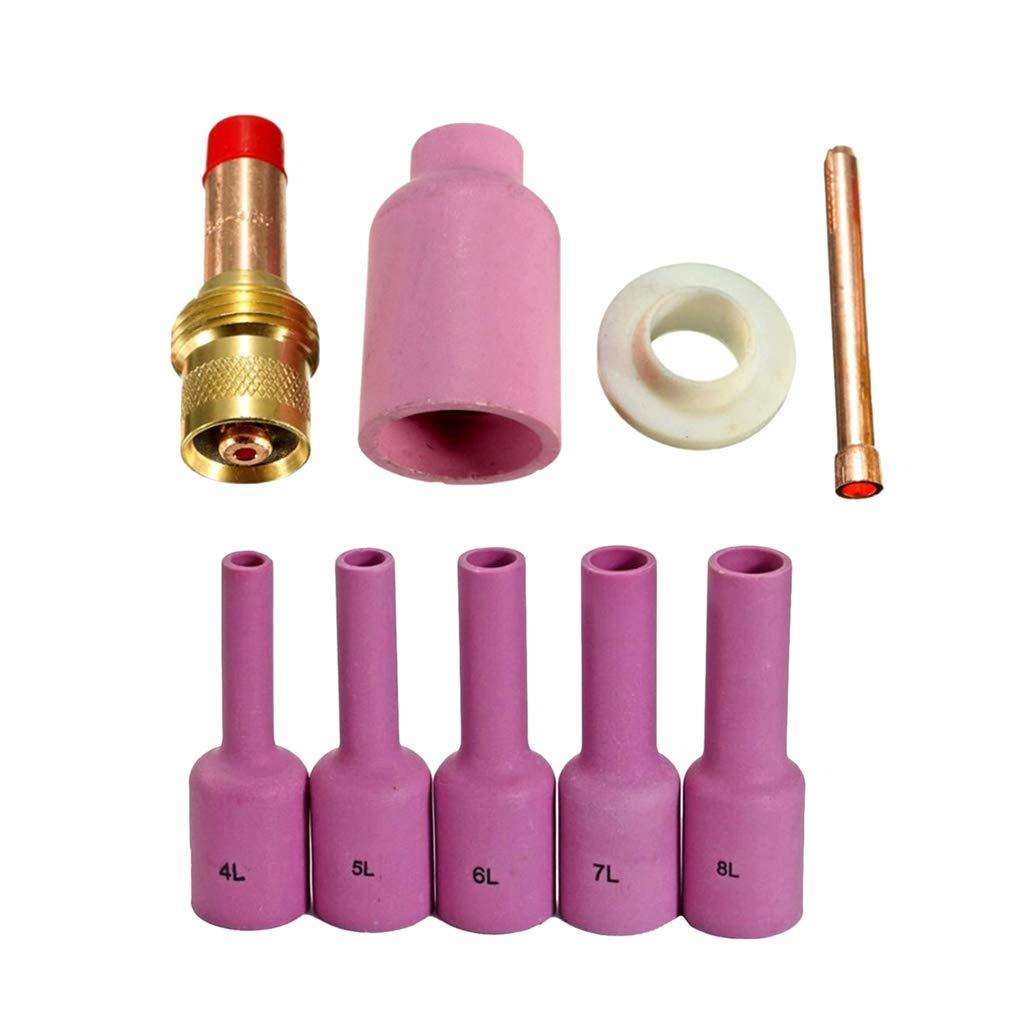Collets Corps pour WP 17 18 26 TIG Torche de Soudage kesoto TIG Gas Lens Kit Buse