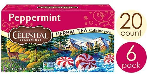 Celestial Seasonings Herbal Tea, Peppermint, 20 Count (Pack of 6) reviews