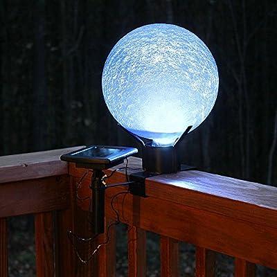 Achla Designs Celestial Orb Solar 10-Inch Gazing Globe Ball, Blue Lapis : Gazing Balls : Garden & Outdoor