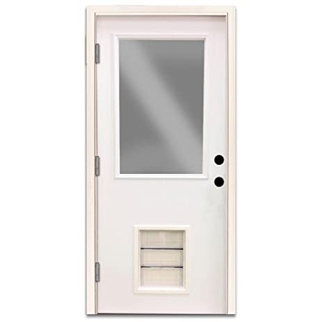 Premium 1/2 Lite Primed White Steel Right Hand Outswing Entry
