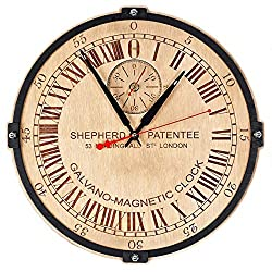 London Greenwich Mean Time (GMT) Shepherd Gate large 24-hour analogue dial wooden wall clock Handcrafted Living Room and Office interior design vintage decorative personalized engraving custom gift