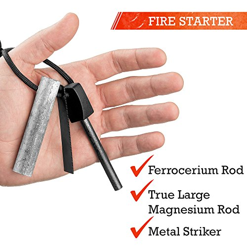 Paracord-Lanyard-Magnesium-Fire-Starter-Ferro-Rod-Metal-Striker-For-Camping-Home-Kitchen-Ideal-Gear-For-Hiking-Campsites-Cabins-RVs-Fireplaces-Emergency-Survival-Kit-Waterproof-All-Weather-Ready