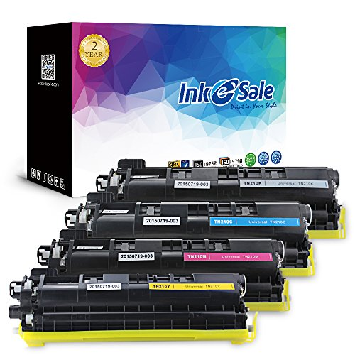 INK E-SALE Compatible Brother Toner TN210 (Black/Cyan/Yellow/Magenta) Toner Cartridge for Brother HL-3040CN HL-3045CN HL-3070CW HL-3075CW MFC-9010CN MFC-9120CN MFC-9125CN MFC-9320CW MFC-9325CW (Tn115 Yellow Toner)