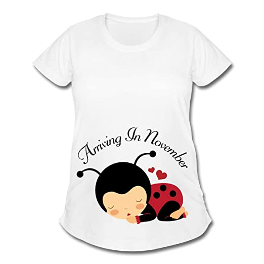 Amazon com: Spreadshirt Pregnancy Ladybug Due Date November