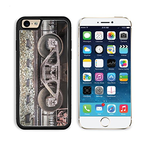 Railroad Freight Depot (MSD Premium Apple iPhone 6 iPhone 6S Aluminum Backplate Bumper Snap Case Details of an old railroad car sitting on rusty tracks IMAGE)