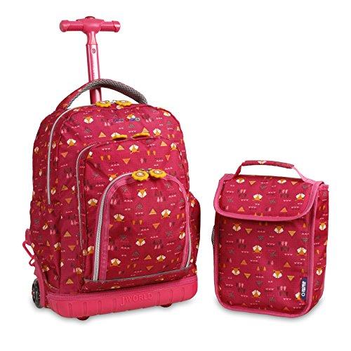 J World New York Kids' Lollipop Rolling Lunch Bag Backpack, Fox, One Size - Fox Side Zip Backpack