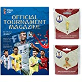 FIFA 2018 World Cup - Official Program, Trophy Pin & Russia Logo Pin Combo Pack
