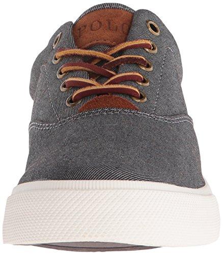 Polo Ralph Lauren Men's Vaughn Fashion Sneaker, Black, 10.5 D US