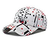 Poker Game Playing Card Adjustable Cotton Baseball Hat Cap Visor Unisex Hip Hop Hat