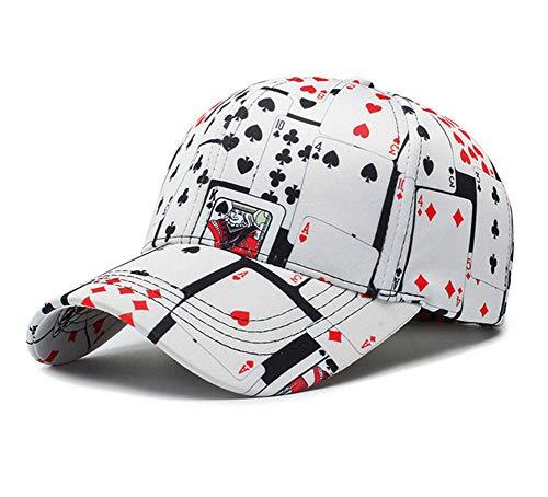 (Poker Game Playing Card Adjustable Cotton Baseball Hat Cap Visor Unisex Hip Hop Hat)