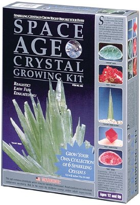 Space Age Crystal Growing Kit: 6 Crystals (Emerald and Ruby)