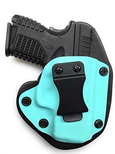 Taurus G2 pt111/pt140 Millennium IWB Holster, Tiffany Blue Kydex with Bridle Leather Backer, Inside The Waistband Concealed Carry Holster, Veteran Owned - American Made, Right Handed Ladies Holster