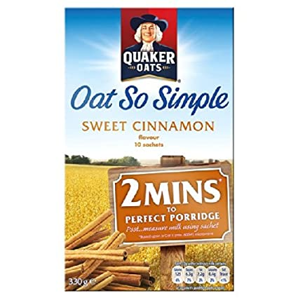 Quaker Avena So Simple Sweet Cinnamon 10 x 33g