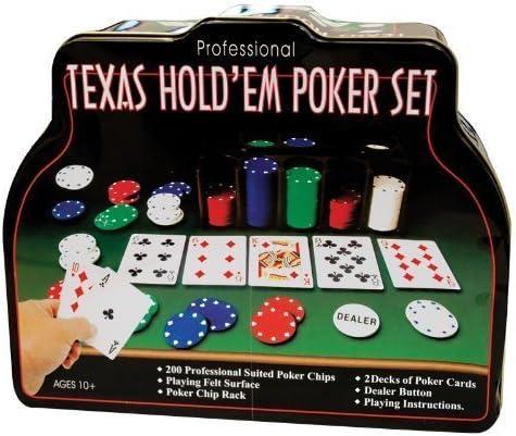 Amazon Com Texas Hold Em Poker Set 206 Piece By Texas Hold Em Poker Toys Games