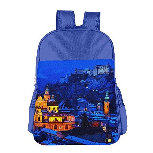Starry Blue City Girls & Boys Lovely School Backpacks - Blizzard Beech