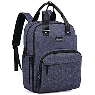 Diaper Bag Backpack, RUVALINO Multifunction Travel Back Pack Maternity Baby Changing Bags, Large Capacity, Waterproof and Stylish, Denim Blue