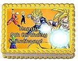Dragon Ball Z Personalized Edible Cake Topper Image -- 1/4 Sheet