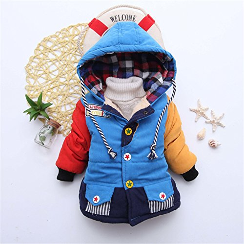 Baby Boys Jacket Coat Jacket Boy Infant Girls Jacket Kids Outerwear Coat Children Blue1 18M]()