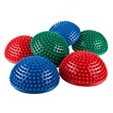 Hey! Play! Balance Pods- Hedgehog Style Balancing and Stability Half Dome Stepping Stones for Exercise- Set of 6 for Kids and Adults