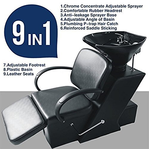 Backwash Salon Shampoo Ceramic Bowl Silk Unit Barber Chair Beauty Spa Equipment