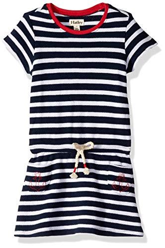 Hatley Girls' Big Tee Dress, Nautical Stripes 8 Years - Hatley Blue Stripes