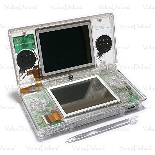 - ValueDeluxe Custom Clear Transparent Nintendo DS Lite System Hand held Gaming Console with World AC Adapter