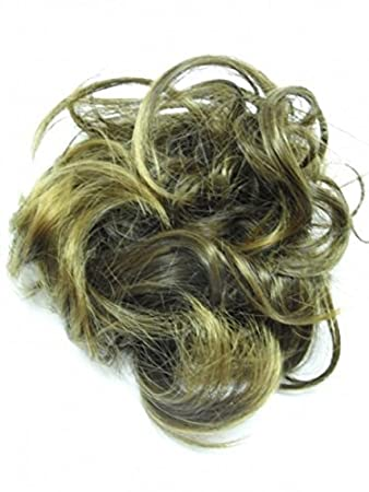 Amazon.com  Larger Size Feather hair bun scrunchie wrap RICH BROWN ... c222342319b