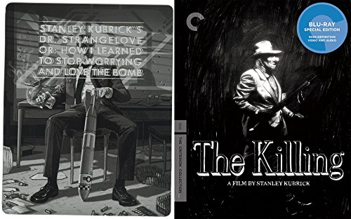 Stanley Kubrick Collection 3-Movie Bundle - Dr. Strangelove or: How I Learned to Stop Worrying and Love the Bomb & The Killing (Criterion Collection) with bonus Killer's Kiss 2-Blu-ray Triple Feature