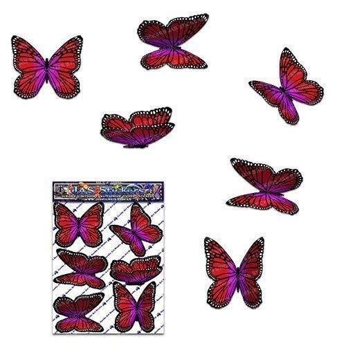 Papillon rouge wanderer autocollants de voiture - ST00028RD_SML - Stickers JAS