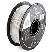 HATCHBOX 3D PLA-1KG1.75-WHT PLA 3D Printer Filament, Dimensional Accuracy +/- 0.05 mm, White by HATCHBOX