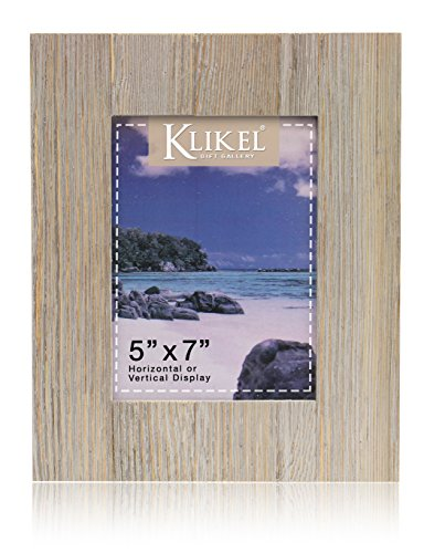 Distressed Wood 5 X 7 Picture Frame - Grey Solid Wooden Wall Hanging And Table Standing Photo Frame (Picture Wooden Frame Friend)