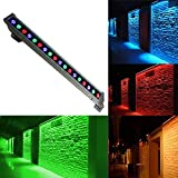 REOLites RGB Linear Bar Wall Washer LED Light - Color Changing Multicolor - Lighting Effect - Outdoor Waterproof, Wall Washer Outdoor Decorative Light which can be used for Lighting your House, Buildings, Clubs, Hotels, Stages, Parks, Plazas, Commercial Building Facades, Art Galleries, Green Landscape, 18w