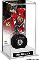 Erik Karlsson Ottawa Senators Deluxe Tall Hockey Puck Case - Fanatics Authentic Certified - Hockey Puck Free Standing Display Cases
