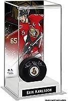Erik Karlsson Ottawa Senators Deluxe Tall Hockey Puck Case - Fanatics Authentic Certified - Hockey Puck Free Standing Display Cases