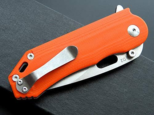 Eafengrow Pocket Knives D2 Blade G10 Handle Folding Camping Knife Mini Outdoor Pocket Knife Survival Tool (EF32-orange) by Eafengrow (Image #5)