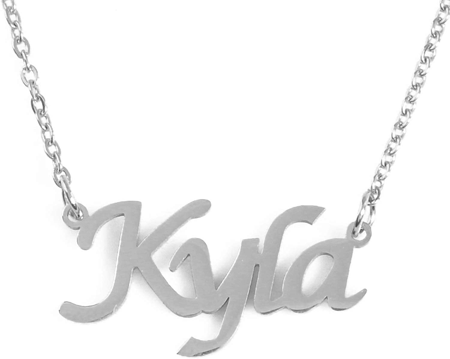 Zacria Lulu Name Necklace 18ct Rose Gold Plated