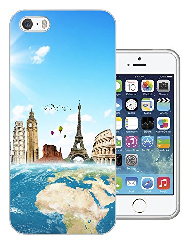 002973 - Travel World Map London America Paris Italy Rome Design iphone 4 4S Fashion Trend CASE Gel Rubber Silicone All Edges Protection Case Cover