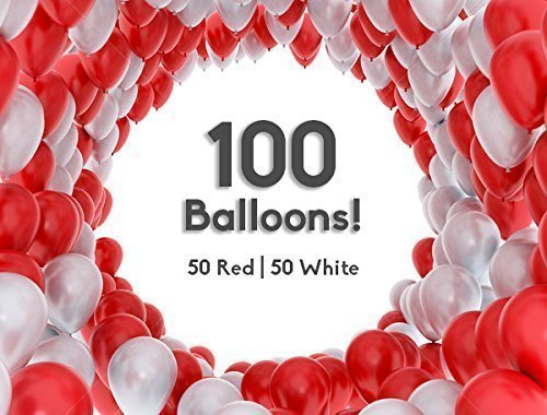 Red White Balloons (12