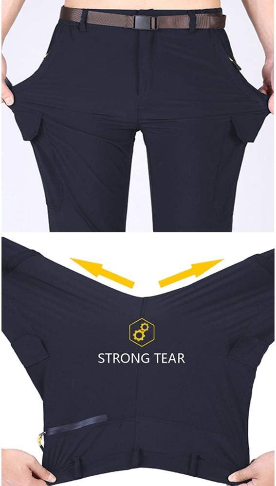 GooDoi Pantaloni da Trekking Convertibili da Esterno da Uomo Pantaloni Leggeri Traspiranti Leggeri Asciutti Pantaloni da Trekking Resistenti allAcqua