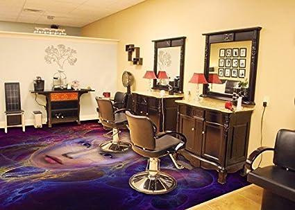 Rivestimento di pavimento d per parrucchiere vinile pvc