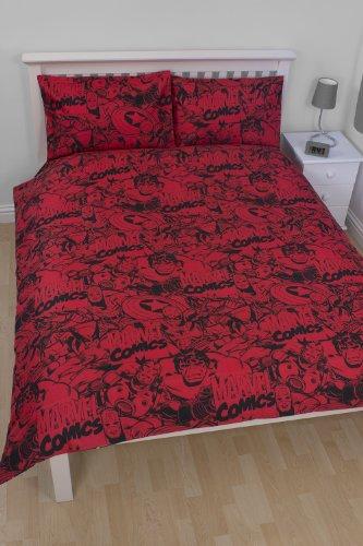linge de lit marvel Character World Parure de lit Marvel Comics 2 personnes   200x200  linge de lit marvel
