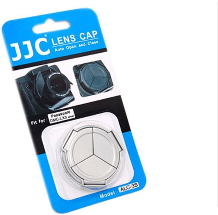 JJC ALC-3S Self-Retaining Auto Open Close Auto Lens Cap For Panasonic Lumix DMC LX3 Leica D-LUX4 Silver