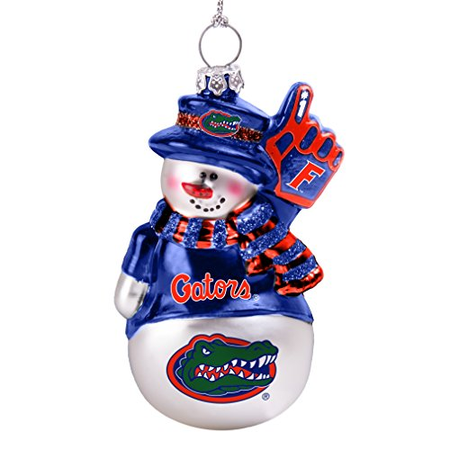 NCAA Florida Gators Glitter Snowman Ornament (Ncaa Florida Gators Snowman)
