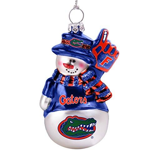 Gators Snowman Florida (NCAA Florida Gators Glitter Snowman Ornament)