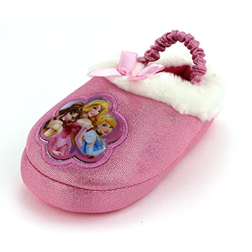 Disney Princess Kids Scuff Slippers (L (9/10) M US Toddler) (Cinderella Shoes Kids)