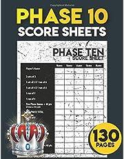 phase 10 score sheets: 130 Large phase 10 Score Sheets for Scorekeeping